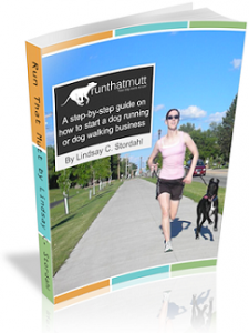 Ebook or book on how to start a dog walking business, starting a dog running business or how to start a pet sitting company