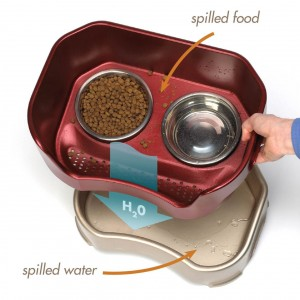 Neater Feeder dog bowl stops a dog from spilling food and water!