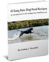 Ebook on raw feeding by Lindsay Stordahl