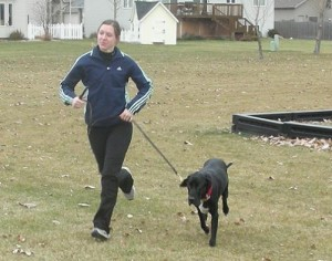 Running long distance with a dog