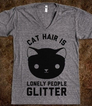 Cat hair is glitter