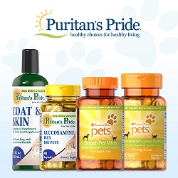 pet supplements from Puritan's Pride