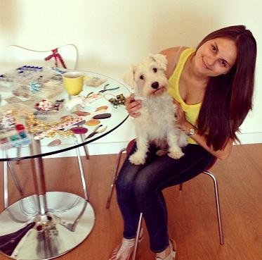 Bojana and her dog Bella