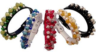 Hand crafted dog collars Mia Dog Collars
