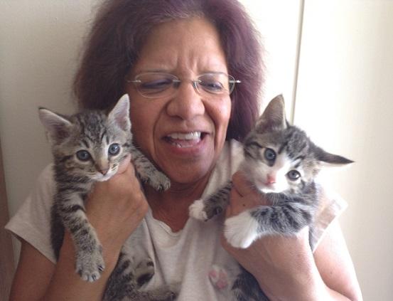 Glo & 2 kittens