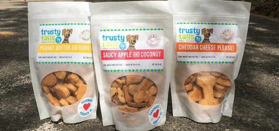 Trusty Tails Treat Kitchen three flavors