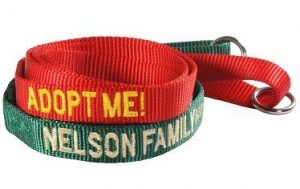 Embroidered adopt me leash