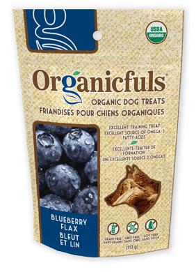Organicfuls dog treats blueberry