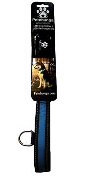 Petabunga LED dog collar blue