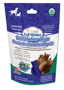 Fruit Nibblers dog treats - blueberry