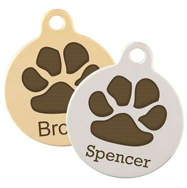 Paw Print tag from dogIDs