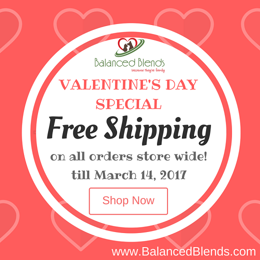 Free shipping storewide at Balanced Blends