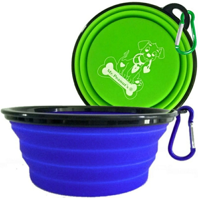 Mr. Peanut's collapsible dog bowls review