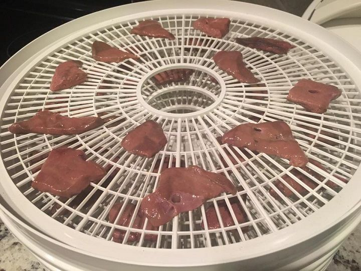 If your dg won't eat certain cuts of raw meat- try dehydrated raw