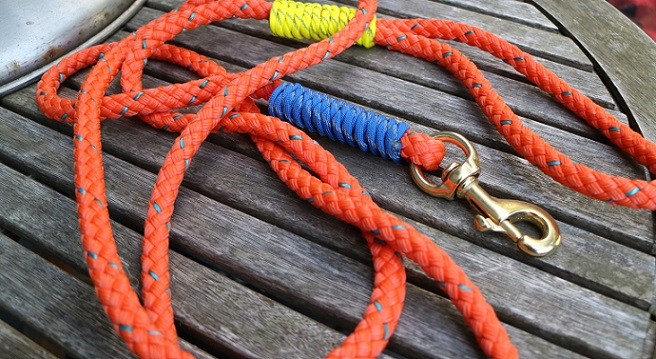 Float leash from Salty's Own Nautical Leashes