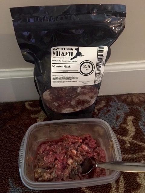 Monstermash organ grind for raw dog food
