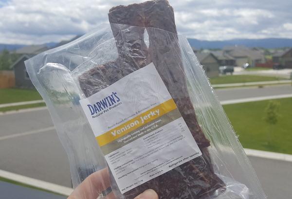 Win a package of Darwin's venison jerky treats!