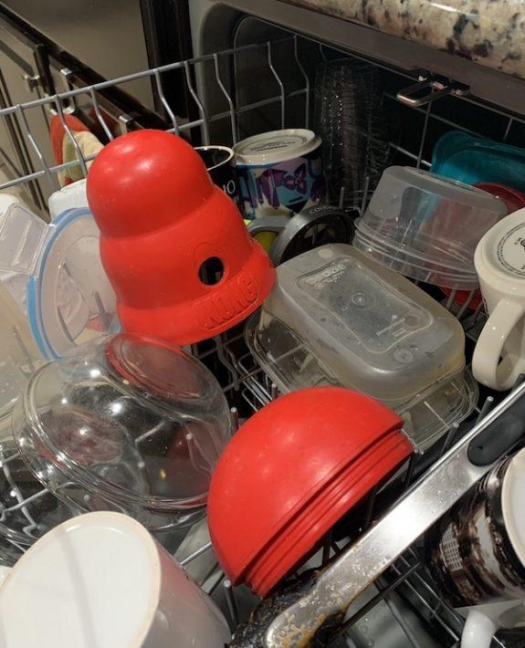 Is the Kong Wobbler dishwasher safe?